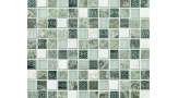 Sagacity Patterned Marble and Glass Mosaic